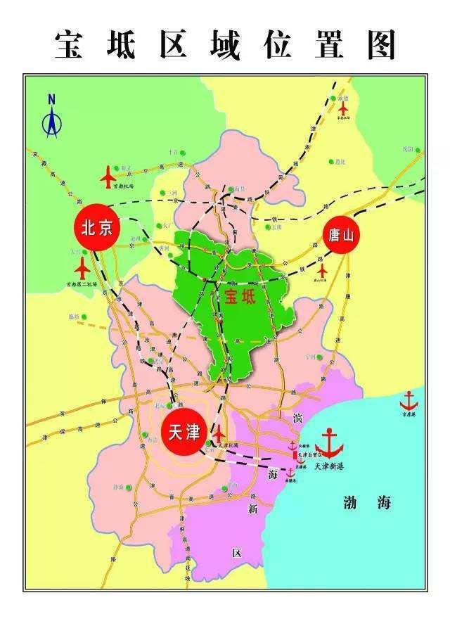 宝坻区域位置图